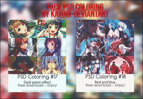 PACK PSD COLORING - GOOD LUCK ON YOUR EXAMS by Katori-Rinfu