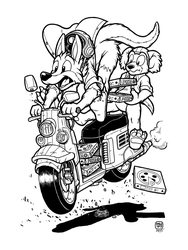 Marsupial Pizza Delivery Boys by megawolf77