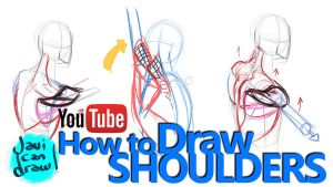 HOW TO DRAW SHOULDERS - A YouTube Tutorial by javicandraw