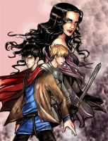 Merlin, Morgana and Arthur by incaseyouart