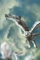 DH: Flight of Hedwig by clouded-ambition