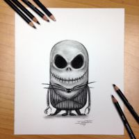 Minnion Jack Skellington Drawing by AtomiccircuS