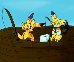 That's not ice fishing... [Collab] by Zeldeon