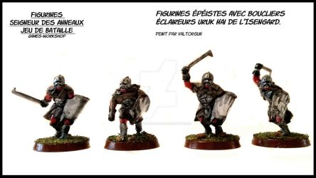 Figurines swo with shield Uruk Hai scouts Isengard by Valtorgun-le-Grand
