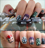 Mass Effect Characters Nails v.1 by ksiazeAikka