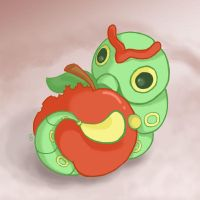010: Caterpie by Rikkoshaye
