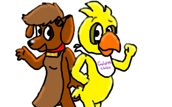 My OC Merly and Gold94Chica by FC-X-MintyGreenTea01