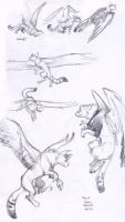 Griffin pen sketches by Kobb