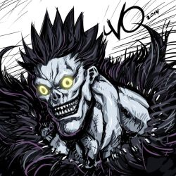 Digital Sketch Warm up 56 - Ryuk by Vostalgic