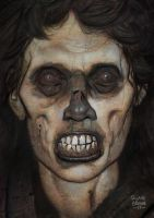 zombie acrylic sketch 3 by ryanbrown-colour