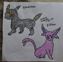 Umbreon and Espeon by JoshuaCordova