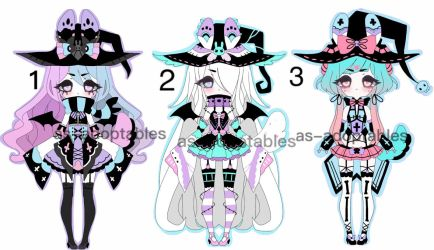 Witch Pluffy Bunny adoptable BATCH CLOSED by AS-Adoptables