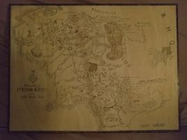 Middle Earth Map by Envorenn