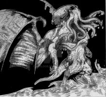 Dark God Cthulhu by Asalgor