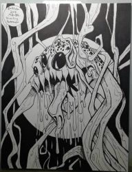 Inktober 2018 No.6 Drooling by MikeES
