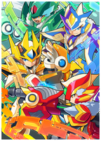 Elemental Armors by ultimatemaverickx