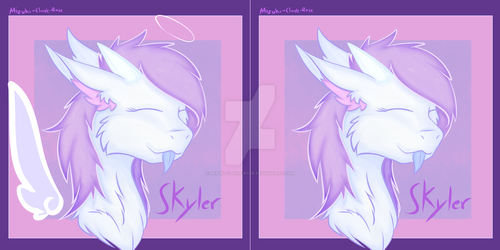 Skyler (Commission) both versions by Mizuki-Claire-Rose