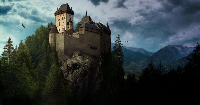 Matte Painting - Castle Ziebicki by anderpeich