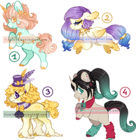 [CLOSED] Pony Adoptable Batch 09 by Tinuleaf-Adopts