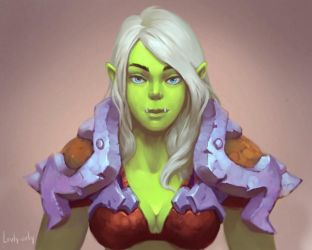 Female Orc by lowly-owly