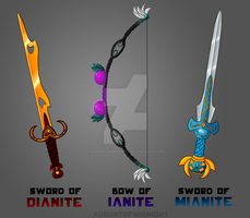 Realm of Mianite Weapons by AugustOfMidnight
