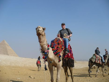 Dave and Nala in Egypt by SirJames314