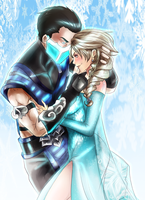Sub-Zero and Elsa X by uekiOdiny
