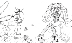 PlayStation Representatives: Crash and Noire by sonic171000