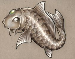 just a koi carp by CyanBlutgeissel