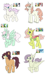 Fluttershy shipping adopts(open) by mississippikite