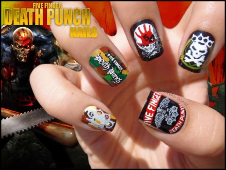 Five Finger Death Punch Nails by Ninails
