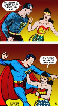 SUPERMAN AND WONDER WOMAN - Timeless classic by godstaff