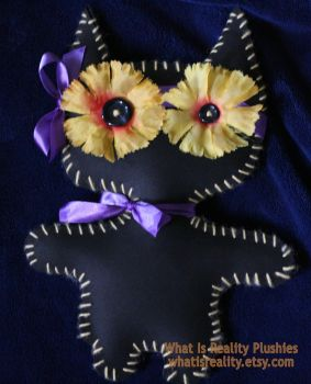 Upcycled Kitty Monster by whatisrealityplush