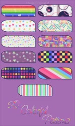x. Colorful Patterns by Thoxiic-Editions