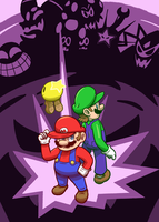 Mario and Luigi by Mister-Saturn