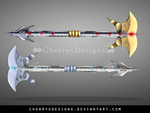 (closed) Weapon Adopt 1 - Twin Axe by CherrysDesigns
