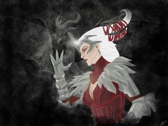 Flemeth-Dragon Age Inquisition by BrassIvyDesign