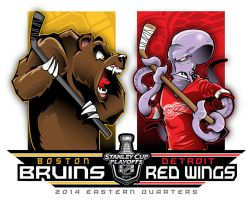 2014 NHL Playoffs Rd 1 Bruins vs Wings by Epoole88