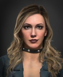 Black Canary Portrait (katie Cassidy) by AnubisDHL