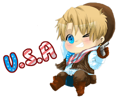 APH: Cowboy America by HoneyHamster