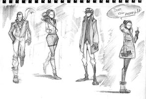Fashion Sketches by COLOR-REAPER