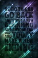 Nobody can go back - typography poster by fantasmadesign