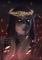 Queen of Thorns and Ashes by Damien-Rouge