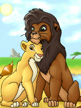 TLK2 - Kovu and Kiara by Adecaeli
