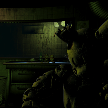 Springtrap Right Jumpscare Recreation by TF541Productions