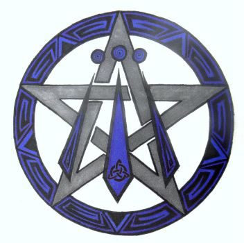 Awen Pentacle by Iolair01