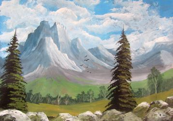 650 Mountains And Trees by mengenstrom