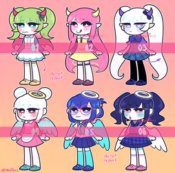 [OPEN 5/6] otherworldly adoptables by korekiyos