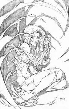 Witchblade pin up by RandyGreen