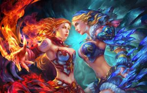 lina - crystal maiden by dionmark